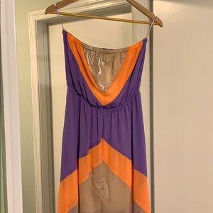 Glitzy strapless maxi dress